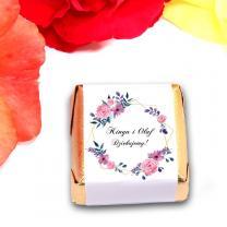 Czekoladki różowe kwiaty