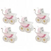Pudełeczko wózek rózowy 5sztuk