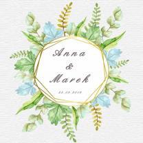 Krówki weselne, ślubne polne kwiaty projekt