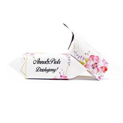 Krówki weselne, ślubne - złoto różowy wianek